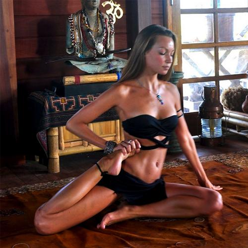 Authoritative point Sexy yoga instructor
