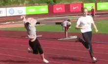 Did This Track Girl Just Get Picked Off By A Sniper? (Video)