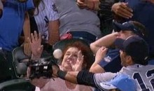 Lady Takes A Foul Ball To The Face (Video)