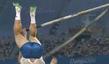 Pole Vaulter's Pole Snaps During World Championships (Video)
