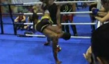 Crazy Kick Results In Sparring Session Knockout (Video)