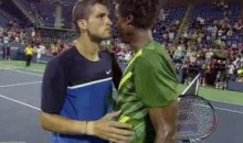 Monfils And Dimitrov Bring Post-Match Kissing To The Men's Game (Video)