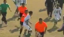 Soccer Ref Running For His Life + Benny Hill Theme Song = Instant Classic (Video)