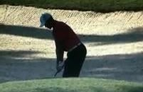 "This Bad Bunker Shot Caused Tiger Woods To Unleash A ""God Dammit!"" (Video)"