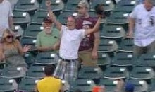 There Is A Kid In The Camden Yards Bleachers Stealing All The Home Run Balls (Video)