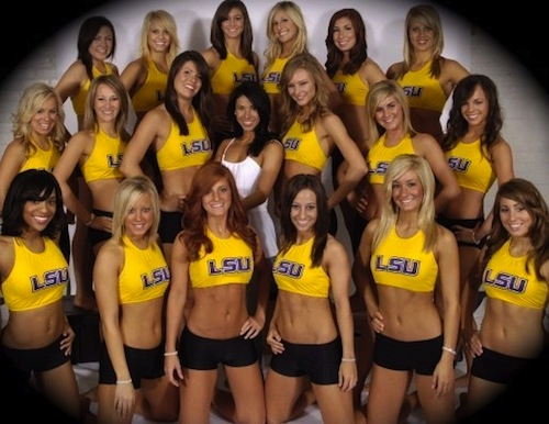 LSU cheerleaders
