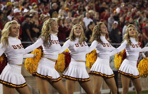 USC song girls cheerleaders