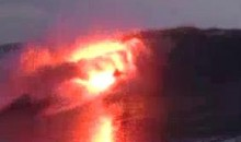 Surfing With A Flare…Literally! (Video)
