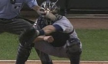 Sparks Fly Off Alex Avila's Mask (Video)