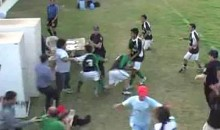Argentine Soccer Fight Includes Players, Fans, And The Police (Video)