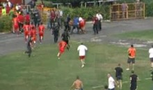 Bosnian Cup Ends When Fans Chase Rival Team Off The Pitch (Video)