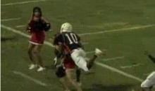 Watch A Cheerleader Get Run Over By A High School Football Player (Video)
