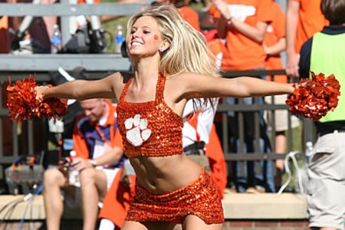 clemson tigers cheerleader