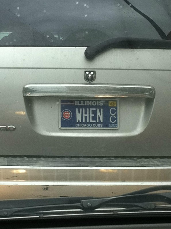 cubs license plate