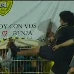 diego maradona kicks fan