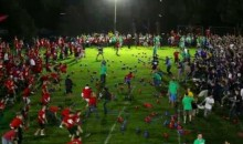 That's One Giant Game Of Dodgeball! (Video)