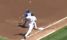 Right Fielder Jeff Francoeur Throws Out Michael Taylor At First (Video)