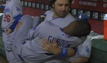 Dee Gordon Is Rod Barajas' Little Baby (GIF)