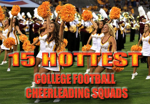 hottest college football cheerleading squads 2011