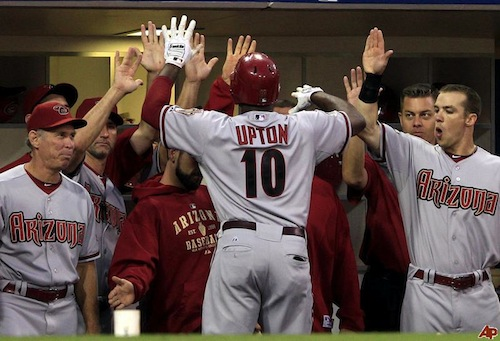 justin upton 2011 arizona diamondbacks