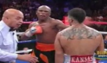 Floyd Mayweather KOs Victor Ortiz With Cheapshot, Almost Fights Larry Merchant (Video)