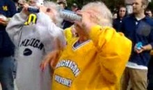 Grandma Shotguns Beer At Michigan Football Game (Video)