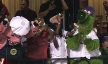 The Phillie Phanatic Makes It Rain…Hot Dogs (Video)