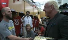 Ric Flair Invaded Fenway Park Last Night (Video)