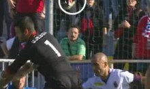 Novara Goalkeeper Samir Ujkani Looses Teeth In Mid-Air Collision (Video)