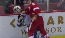 Frozen Fisticuffs Fight Of The Night — Abdelkader Beats Up Lapierre — 10/13/11