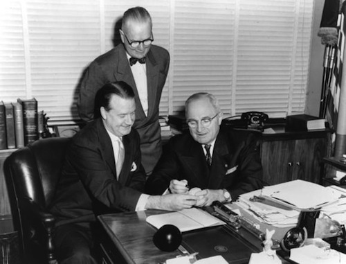 arnold johnson with president truman