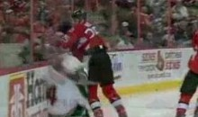 Sens' Chris Neil Drills Wild's Clayton Stoner (Video)