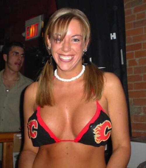 calgary flames bikini girl