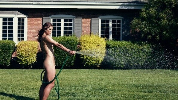 hope solo watering the grass