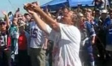 Buffalo Bills Fan Gets Showered With Ketchup And Mustard (Video)