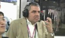 Mr. Bean Reacts To A Formula One Crash (Video)