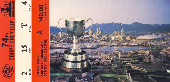 1986 grey cup