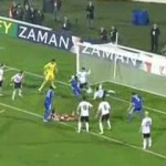 Besiktas goal line stand