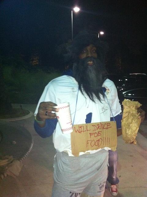 Dwight Howard as a Homeless Man