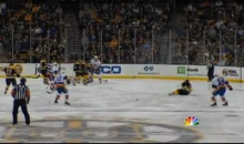 Daniel Paille Gets A Puck In The Face (Video)