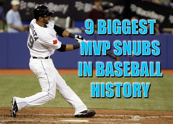 biggest mvp snugs in baseball history