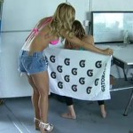 Bikini Babes Reenact Nick Novak's Sideline Urination (Video)