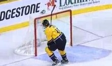 Craig Smith Puts It Up And Over The Empty Net (Video)