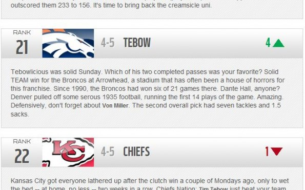 TIM TEBOW already luring the Redskins defense to sleep