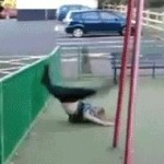 Try parkour, they said… (GIF)