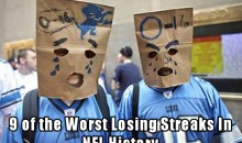 9 Of The Worst Losing Streaks In NFL History