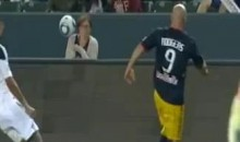NY Red Bulls' Luke Rodgers Almost Decapitated A Female Spectator Last Night (Video)