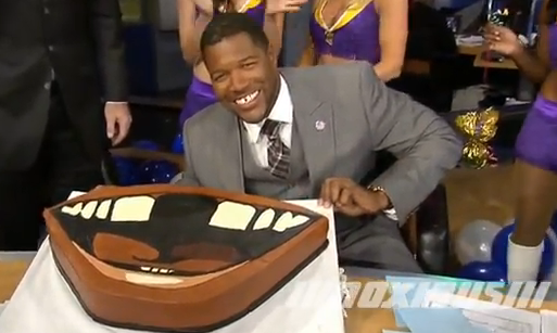 michael strahan birthday cake