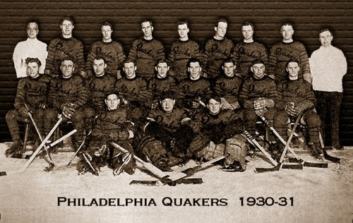 philadelphia quakers 1930-31 hockey team