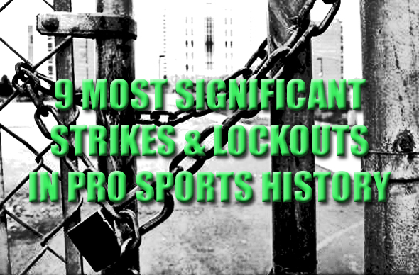 pro sports strikes and lockouts